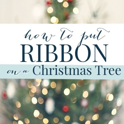How to Put Ribbon on a Christmas Tree (Tutorial)