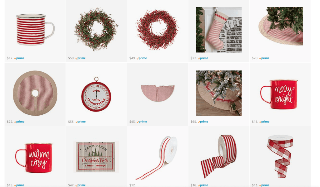 Gorgeous red Christmas decor, farmhouse inspired