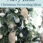 Navy Blue Christmas Decor Ideas Home Tour A Pop Of Pretty