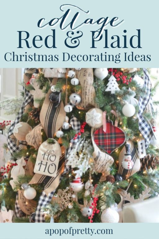 red plaid christmas decorating ideas