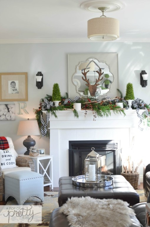 2 ways to hang greenery on a mantel