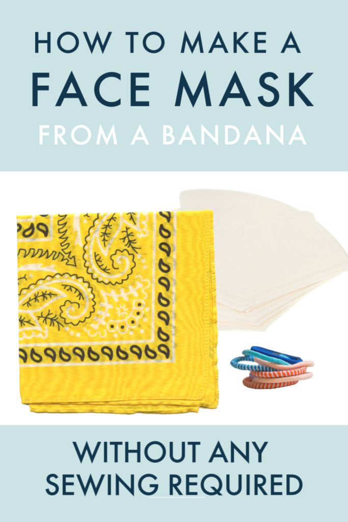 hommade no sew face covering