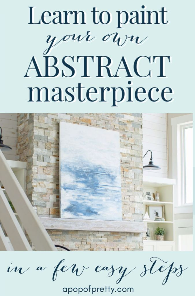 DIY Abstract Art Canvas