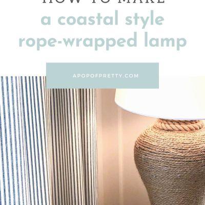 Rope Wrapped Lamp: DIY Tutorial