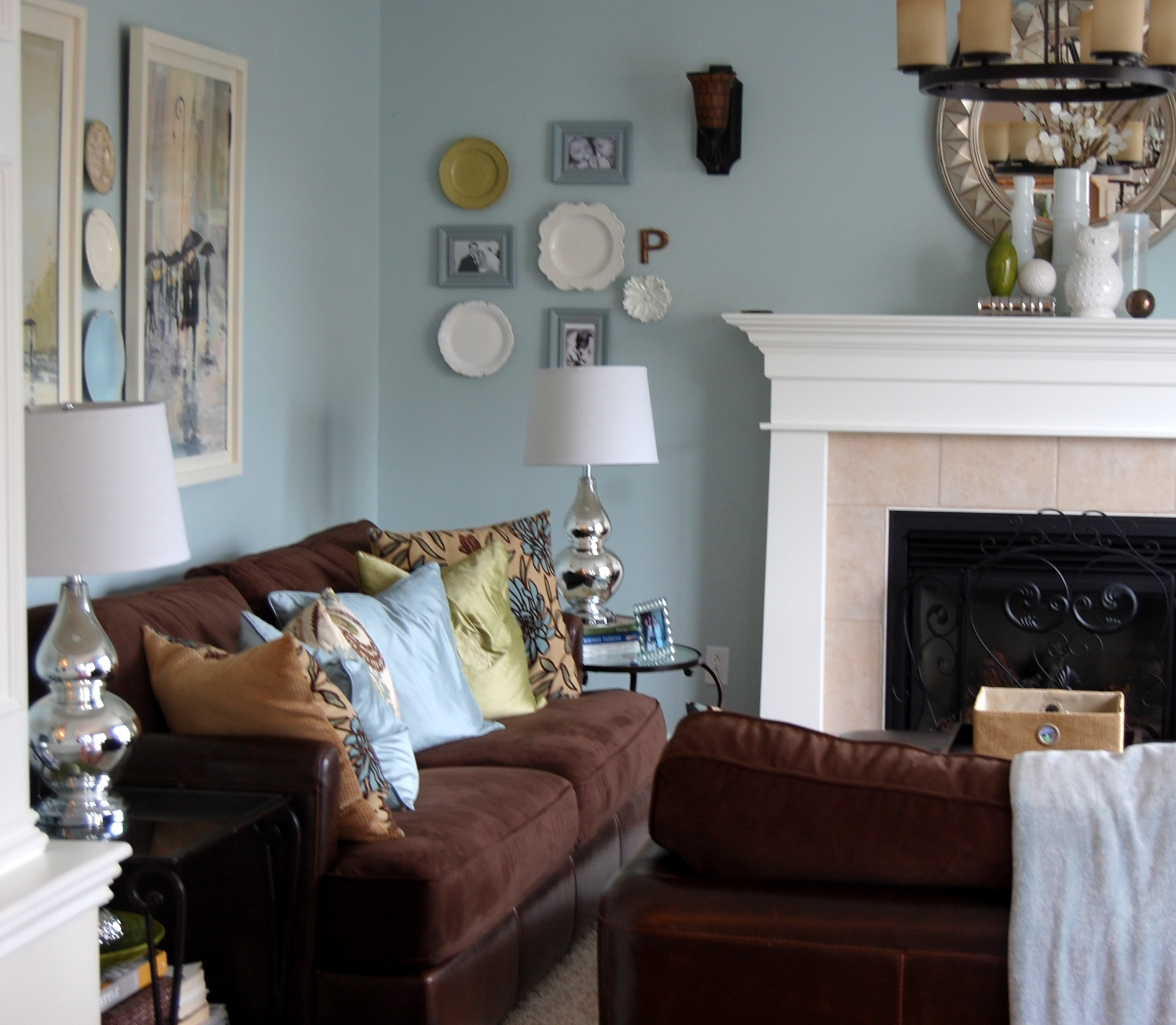 living room blue decorating ideas curtains benjamin moore woodlawn & the evolution of our ...