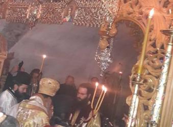 Χειροτονία σε διάκο του Μοναχού Παρθένιου στην Ιερά Μονή Κουδουμά (φώτο)