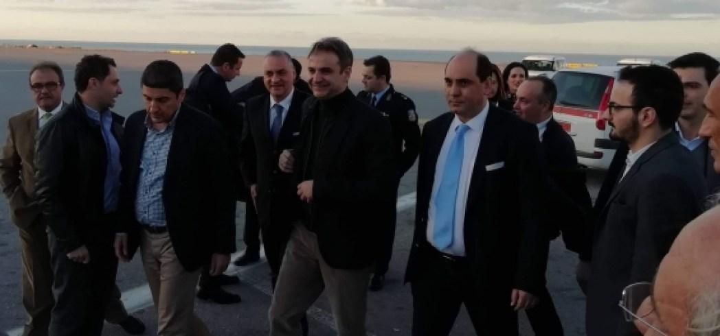 Ο Κυριάκος Μητσοτάκης έφτασε στο Ηράκλειο (φώτο)