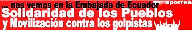 Solidaridad con el Pueblo del Ecuador