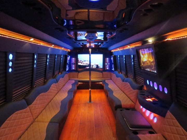 Custom party bus interiors decoratingspecialcom for Custom party bus interiors