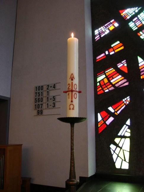 Kerze, Gottesdienst am 04.04.2010, © Birgit Schröter