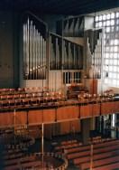 Beckerath-Orgel aus ungewöhnlicher Perspektive von einem Baugerüst, 2009, © R. Fraedrich