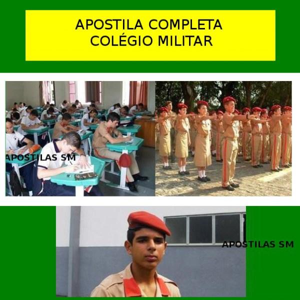 apostila para colégio militar