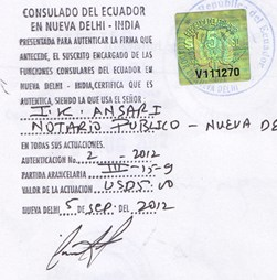 Agreement Attestation for Ecuador in G.T.B. Nagar, Agreement Legalization for Ecuador , Birth Certificate Attestation for Ecuador in G.T.B. Nagar, Birth Certificate legalization for Ecuador in G.T.B. Nagar, Board of Resolution Attestation for Ecuador in G.T.B. Nagar, certificate Attestation agent for Ecuador in G.T.B. Nagar, Certificate of Origin Attestation for Ecuador in G.T.B. Nagar, Certificate of Origin Legalization for Ecuador in G.T.B. Nagar, Commercial Document Attestation for Ecuador in G.T.B. Nagar, Commercial Document Legalization for Ecuador in G.T.B. Nagar, Degree certificate Attestation for Ecuador in G.T.B. Nagar, Degree Certificate legalization for Ecuador in G.T.B. Nagar, Birth certificate Attestation for Ecuador , Diploma Certificate Attestation for Ecuador in G.T.B. Nagar, Engineering Certificate Attestation for Ecuador , Experience Certificate Attestation for Ecuador in G.T.B. Nagar, Export documents Attestation for Ecuador in G.T.B. Nagar, Export documents Legalization for Ecuador in G.T.B. Nagar, Free Sale Certificate Attestation for Ecuador in G.T.B. Nagar, GMP Certificate Attestation for Ecuador in G.T.B. Nagar, HSC Certificate Attestation for Ecuador in G.T.B. Nagar, Invoice Attestation for Ecuador in G.T.B. Nagar, Invoice Legalization for Ecuador in G.T.B. Nagar, marriage certificate Attestation for Ecuador , Marriage Certificate Attestation for Ecuador in G.T.B. Nagar, G.T.B. Nagar issued Marriage Certificate legalization for Ecuador , Medical Certificate Attestation for Ecuador , NOC Affidavit Attestation for Ecuador in G.T.B. Nagar, Packing List Attestation for Ecuador in G.T.B. Nagar, Packing List Legalization for Ecuador in G.T.B. Nagar, PCC Attestation for Ecuador in G.T.B. Nagar, POA Attestation for Ecuador in G.T.B. Nagar, Police Clearance Certificate Attestation for Ecuador in G.T.B. Nagar, Power of Attorney Attestation for Ecuador in G.T.B. Nagar, Registration Certificate Attestation for Ecuador in G.T.B. Nagar, SSC certificate Attestation for Ecuador in G.T.B. Nagar, Transfer Certificate Attestation for Ecuador