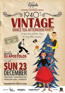 1940s Vintage Dance Tea Afternoon Xmas Party by Jitterbugs SKG, Thessaloniki, Dec 23, 2018.