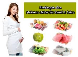 larangan ibu hamil 2 bulan dan makanan pantangan