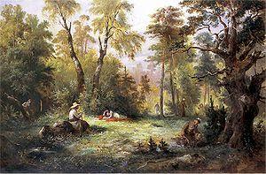 Wild Mushroom picking; illustration to III tome &qu...