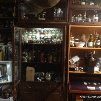 Part of one wall in the Apothecary's study, Oceans of Potions