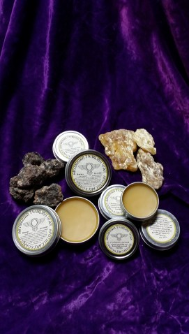Abyssinian Twirling Wax. A Frankincense based Moustache wax. In the Etsy store.