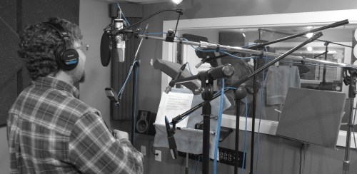 Just a few mics for this session.  Gary McGraw of Where's Aubrey/
