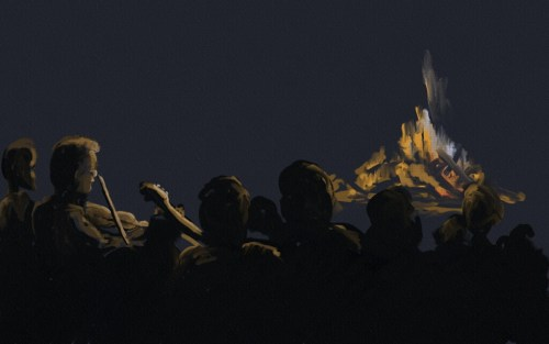Firelit at the solstice (by Joel Winstead)