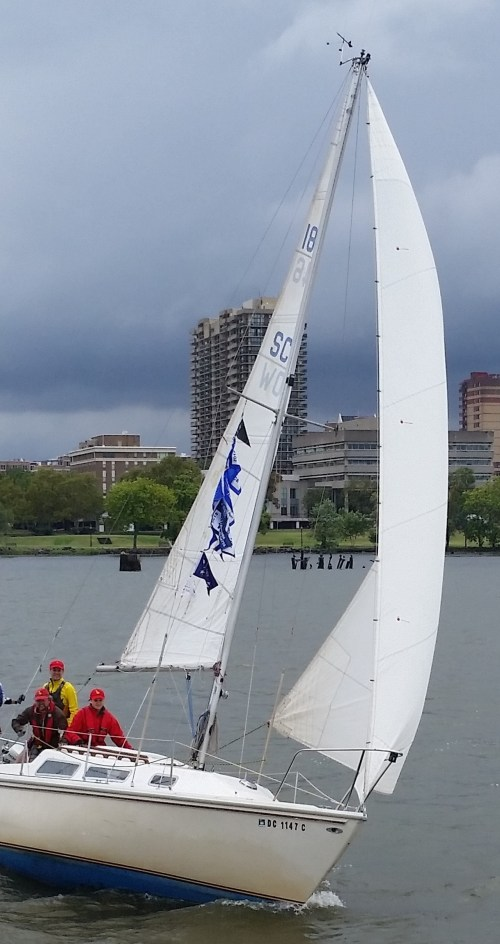 Team Tartan sails in stormy weather
