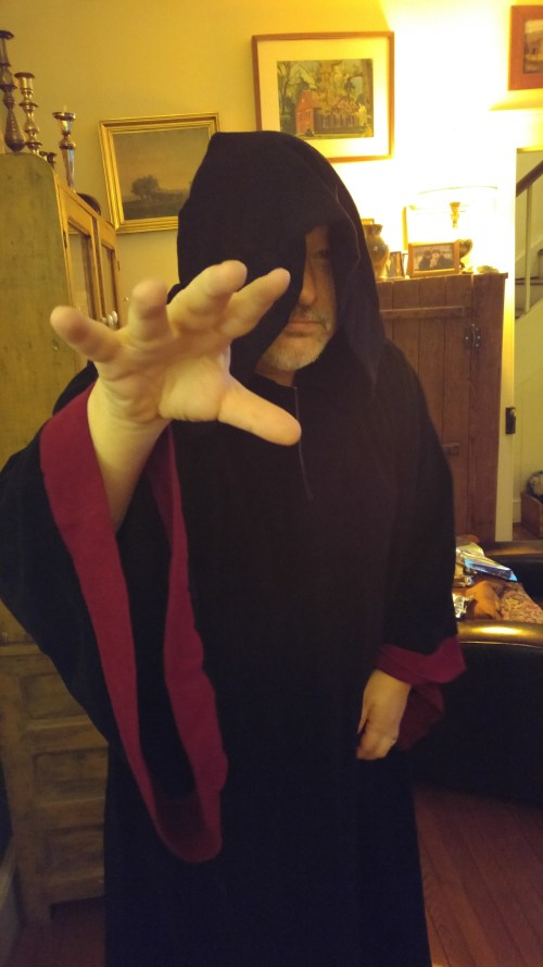 The Dark Side was well represented. Joe as the Emperor.