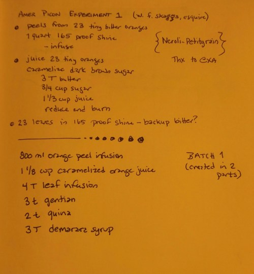 Notes and the final recipe.