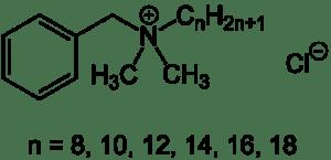 Benzalkoniumchlorid Strukturformel