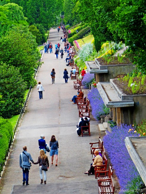 Princess street gardens, Εδιμβούργο, Σκωτία, Βρετανία (Edinburgh - Princess street gardens, Edinburgh, Scotland, UK).