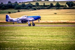 North American Aviation P51D Mustang (Moonbeam), Αεροπορική Επίδειξη Flying Legends 2016, Αεροδρόμιο Duxford, Cambridgeshire, Αγγλία, Βρετανία (North American Aviation P51D Mustang (Moonbeam), Flying Legends Airshow 2016, Duxford Airfield, Cambridgeshire, England, UK).
