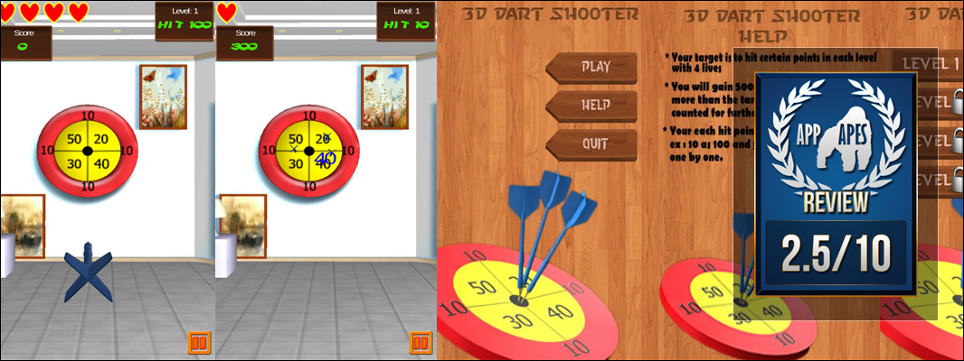 3D Dart Shooter Review