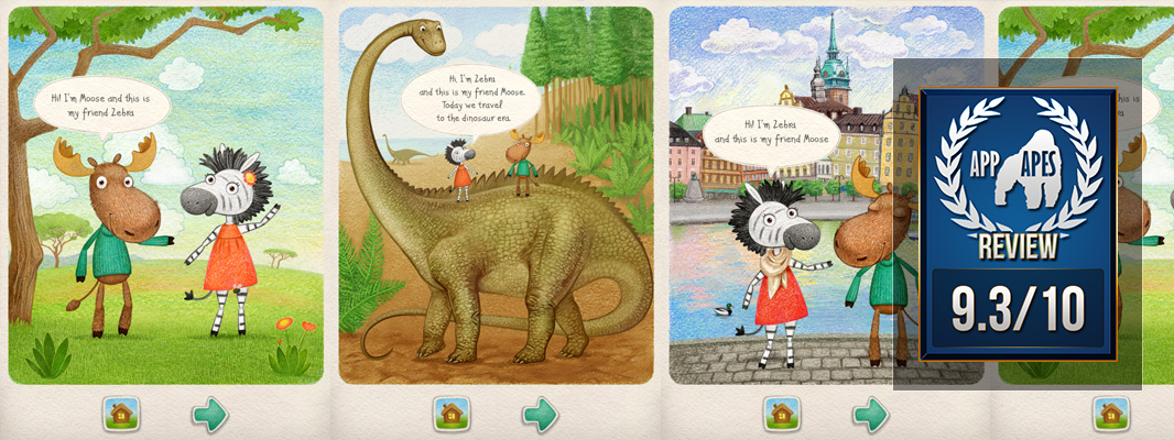 Moose & Zebra Kids Magazine App Review