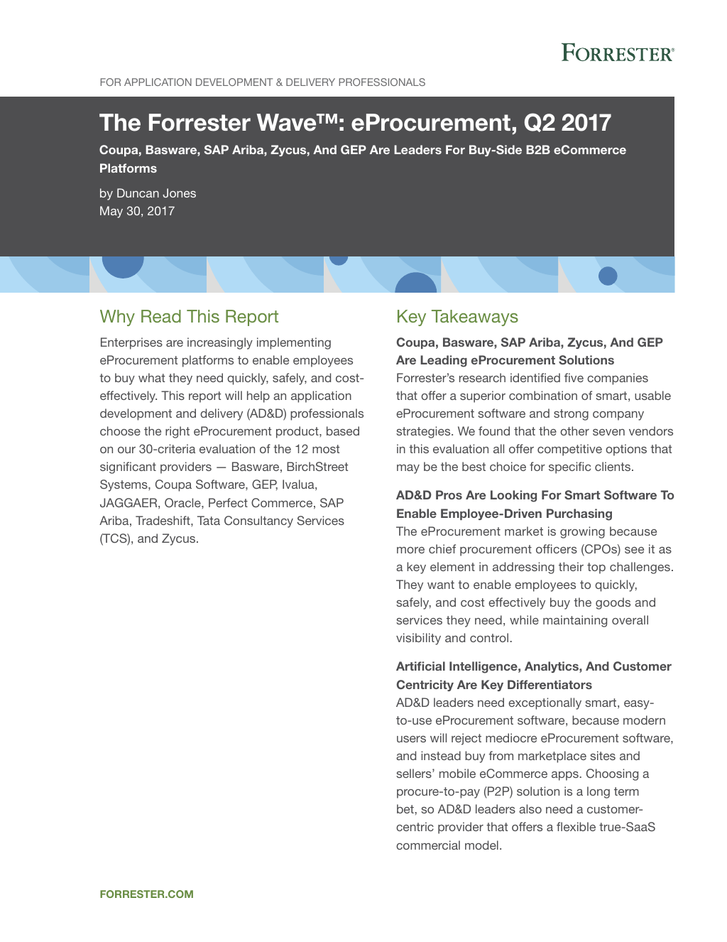 Analyst Report: The Forrester Wave 2017