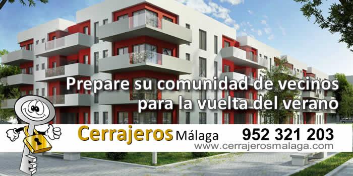 Prepare su comunidad de vecinos para la vuelta de vacaciones con Cerrajeros Málaga