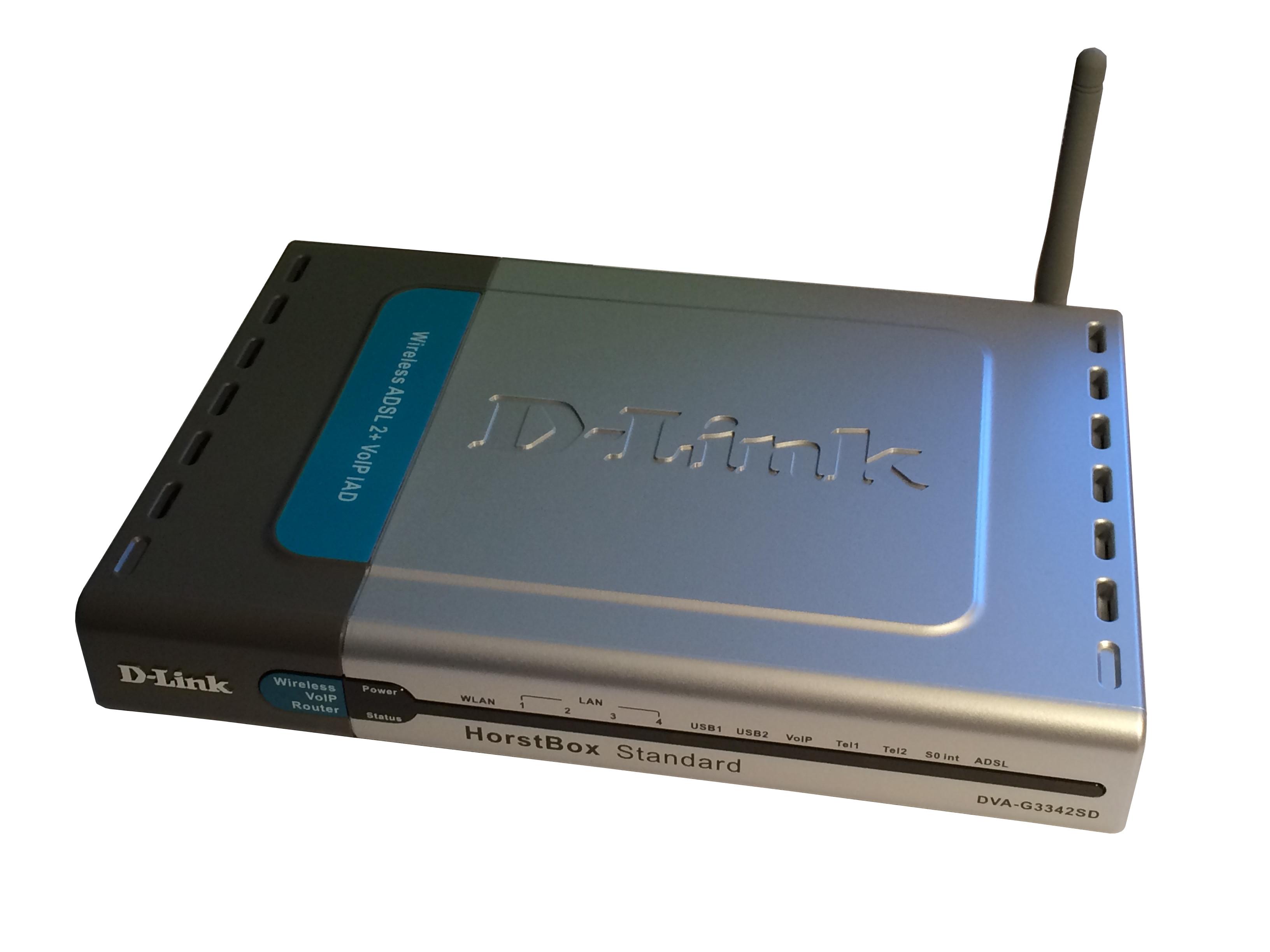 D-Link D-LINK DVA-G3342SD HorstBox Standard WLAN Router (VoIP+WLAN+Router) 54 Mbps