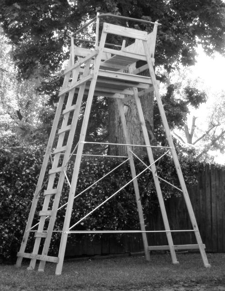 high chair deer stand counter height directors getting ready for next season hunting in louisiana just finished building my new two man it came out nice now i need some camp netting to hang around the shooting rail