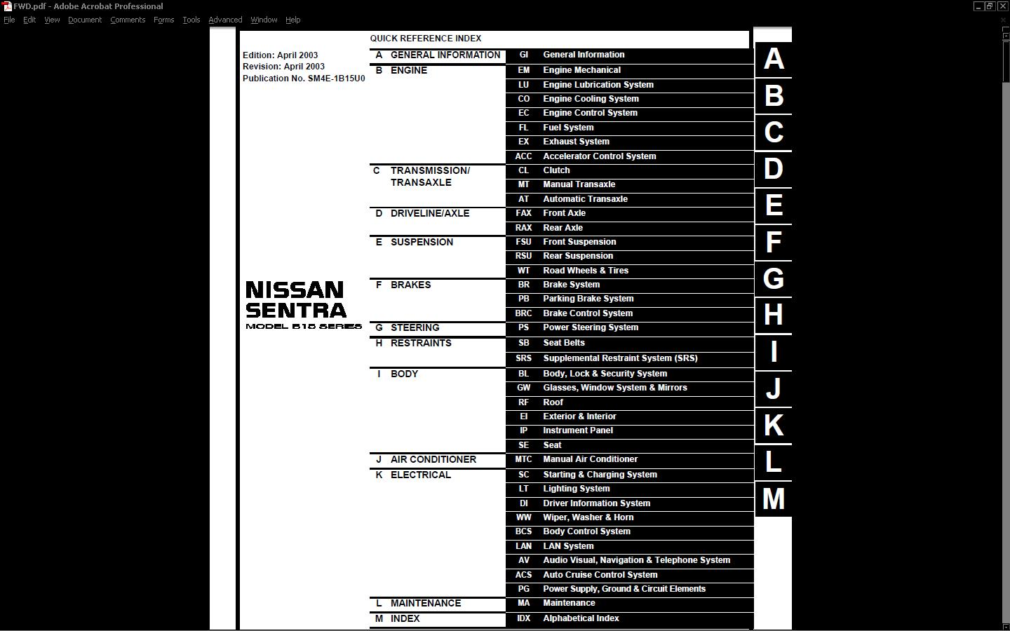 hight resolution of nissansentra shop service manual orig 210 frontpage 953f8 jpg