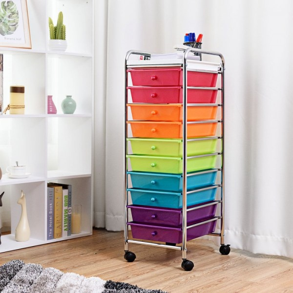 Drawers Rolling Organizer Cart Craft Utility Mobile