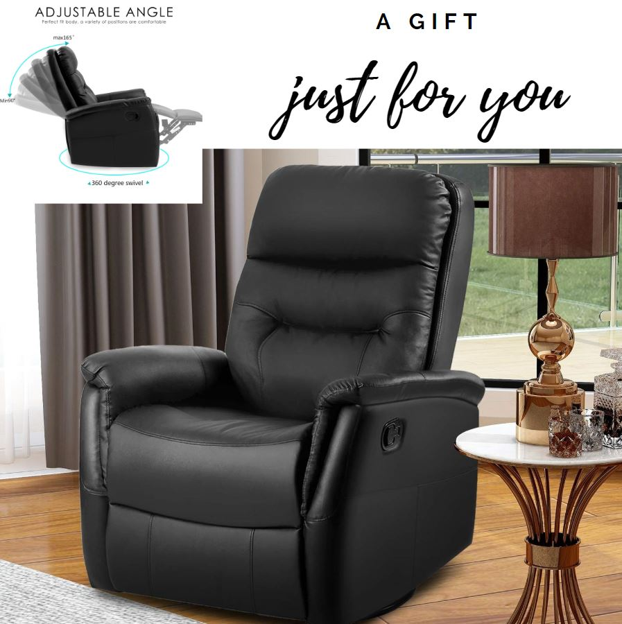 Lazy Boy Swivel Chair Details About Modern Lazy Boy Recliner Swivel Chair Furniture Relax Bond Leather Versatile New