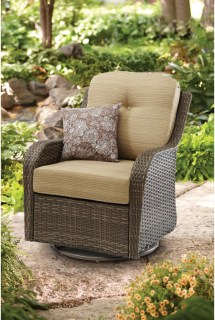 Homes And Gardens Outdoor Wicker Swivel Glider