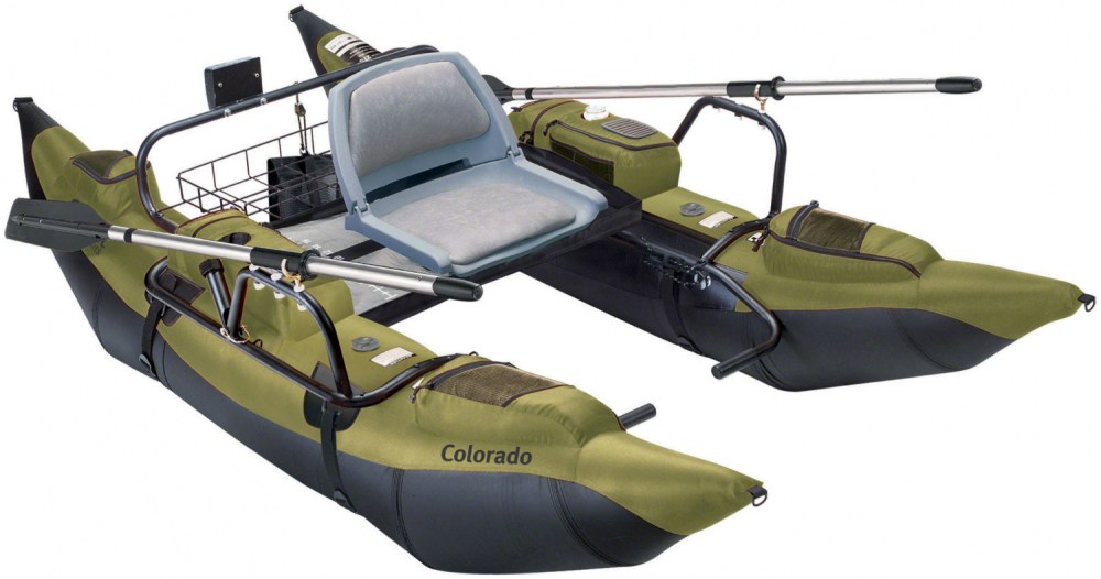 medium resolution of colorado pontoon fishing boat with wire rear storage and battery platform tool