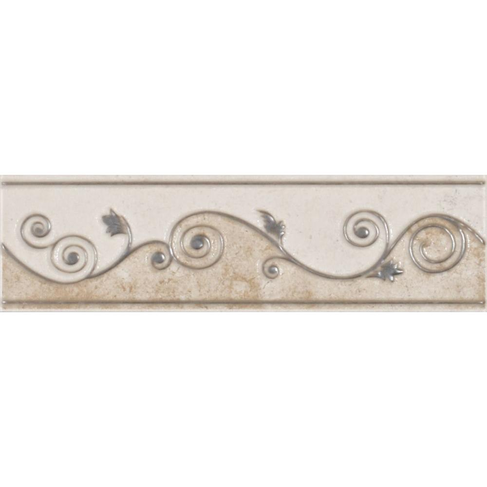 details about melbourne sand 3 in x 8 in ceramic listello wall tile