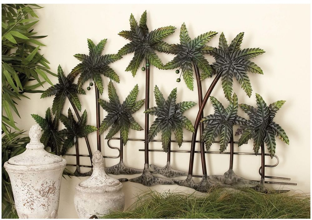 Tropical Palm Trees Wall Art Sculpture