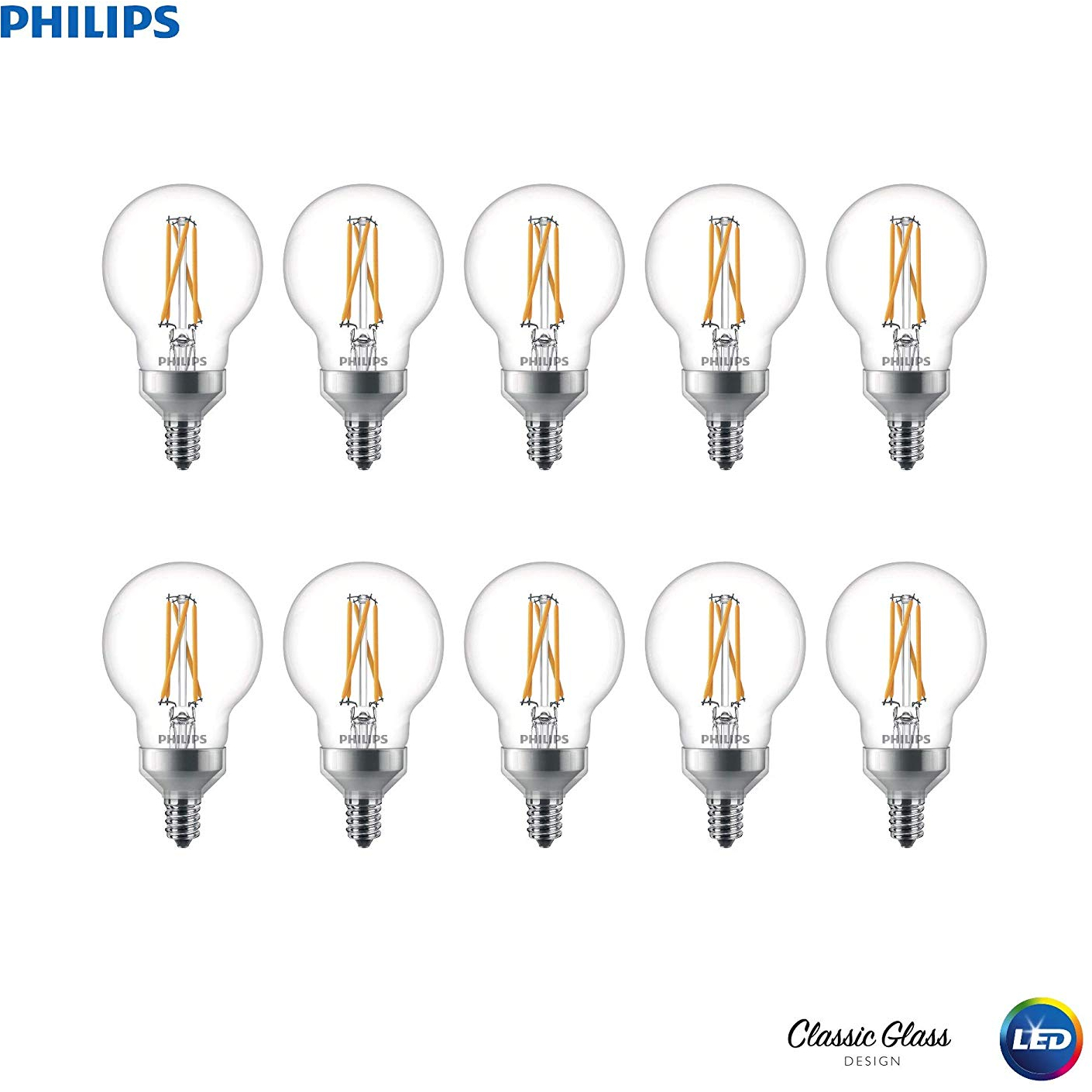 Philips Led Dimmable G16 5 Frosted Filament Glass