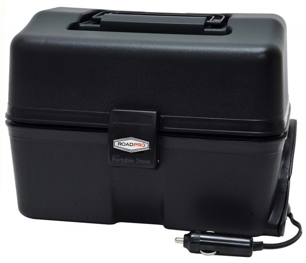 12-volt Portable Stove Black Car Hot Food Warmer Heated Electric Oven Camping