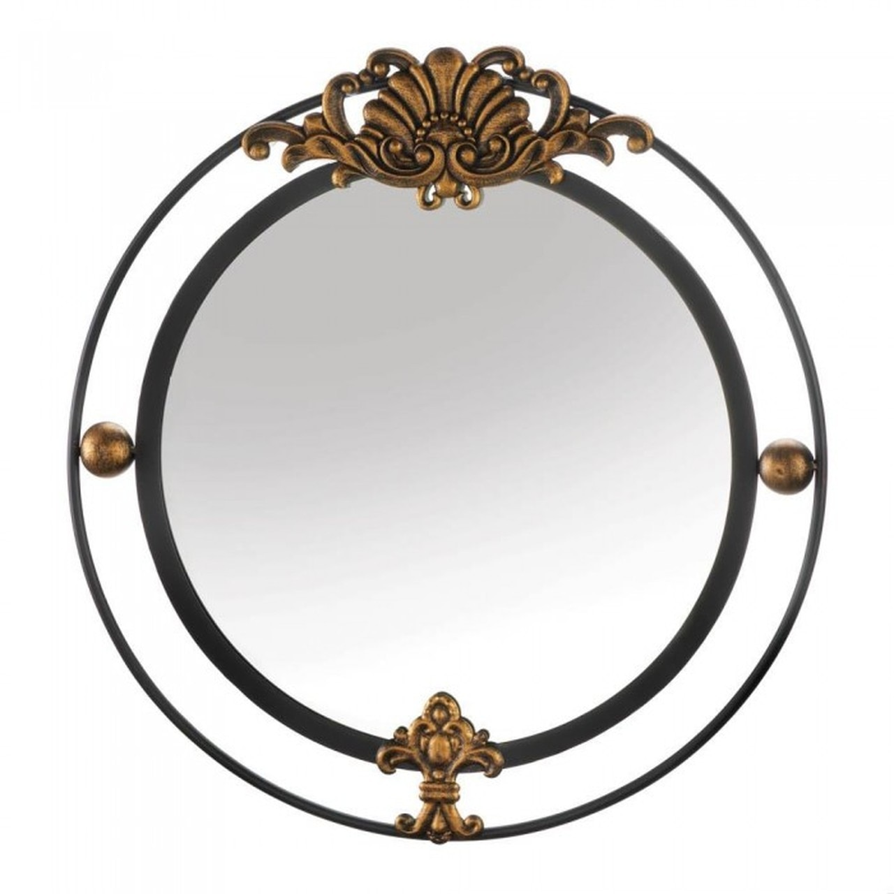 Details About Stately Round Metal Hanging Wall Mirror Home Decor Accent Bathroom Vanity
