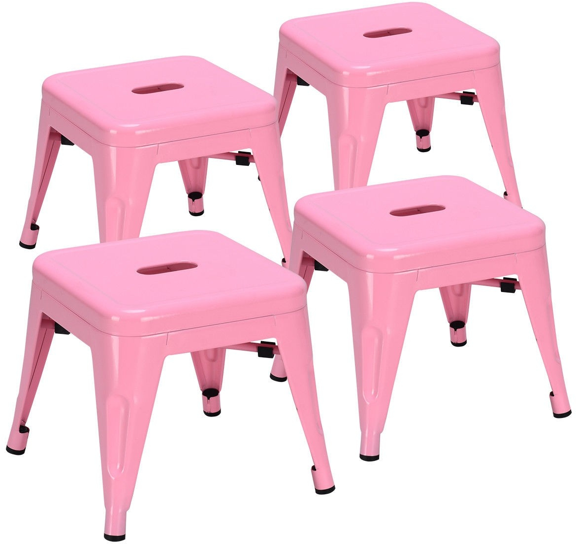 pink kids chair swivel kitchen set of 4 lightweight stackable metal tolix stools classroom