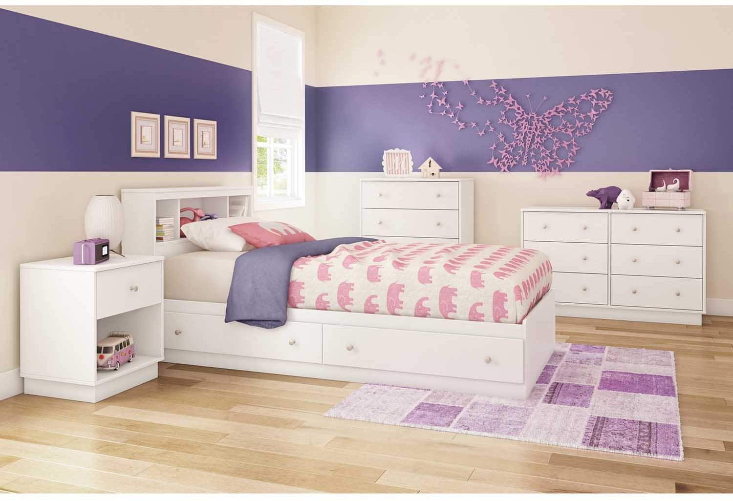 Details About White 39in Twin Bookcase Headboard Kids Toddler Baby Bedroom Playroom