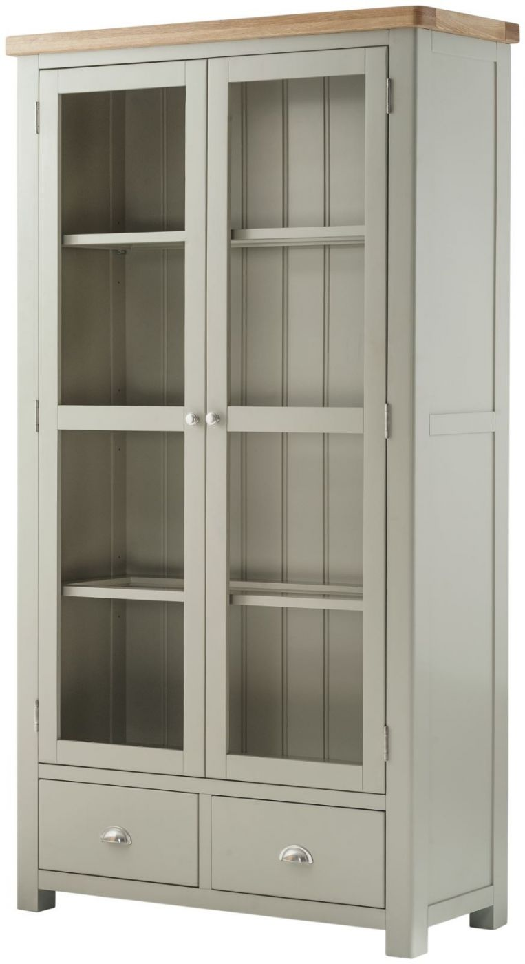 Portland Stone Grand Glazed Display Cabinet Kitchen