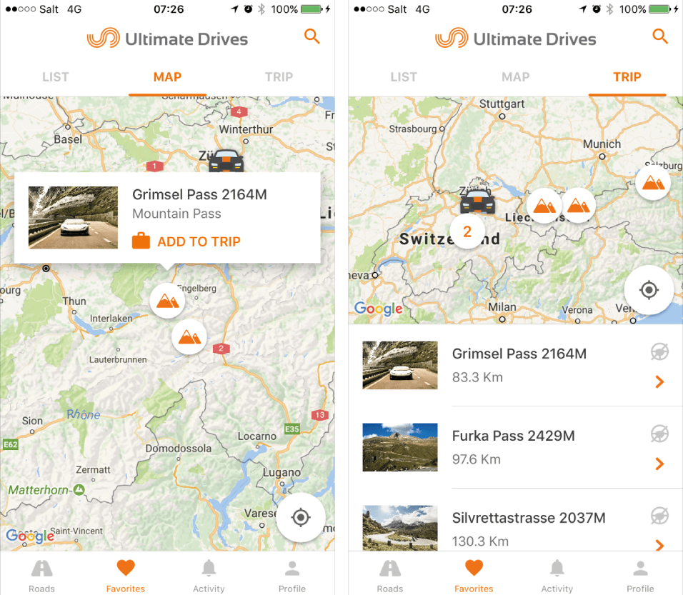 Plan Your Trip and Drive some amazing roads with our Ultimate Drives App